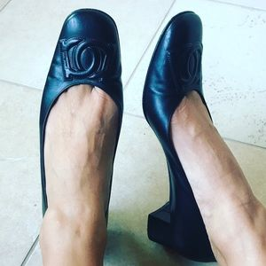 Vintage Ferragamo Block Heel Sandals